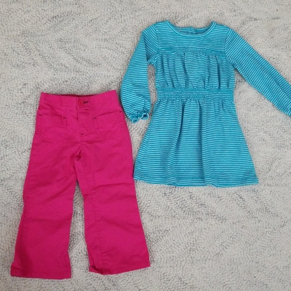 Old Navy Other - 2t Dress & Pink pants